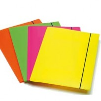 CARTELLINA 3L CON ELASTICO COLORI FLUO SHOCKING FILE 1028001 - Conf da 4 pz.