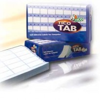 Scatola 12000 etichette adesive TAB3-0722 72x23,5mm corsia tripla Tico TAB3-0722