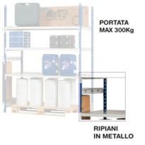 KIT 3 RIPIANI IN METALLO 100x60cm K603166