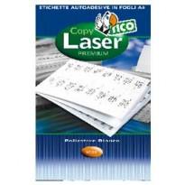 Poliestere adesivo LP4P bianco 70fg A4 210x148mm (2et/fg) laser Tico LP4P-210148