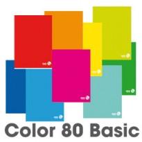 MAXIQUADERNO A4 80gr 80fg+1 1rigo c/margine COLOR 80 BASIC BM 0110602 - Conf da 10 pz.