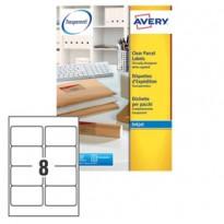 Poliestere adesivo J8565 trasparente 25fg A4 99,1x67,7mm (14et/fg) inkjet Avery J8565-25