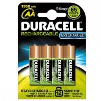 Blister 4 pile ricaricabili B4 - Stilo 2400mAh Duracell Duralock precaricata 8136752