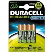 Blister 4 pile ricaricabili B4 - MiniStilo 800mAh Duracell Duralock precaricata 81364755