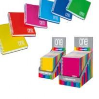 EXPO 14 MINIQUADERNI SPIRALATI PPL A6 12x17cm mix 6 colori ONE COLOR BLASETTI 5459
