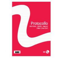 FOGLI PROTOCOLLO A4 60gr 20fg 1rigo BM 0100258