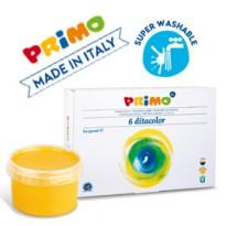BOX 6 COLORI A DITA 250ml PRIMO 222TD6G