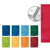 QUADERNO A5 16,3x21cm SPIRALATO 90gr 60fg 4fori microperf. 5mm COLORS BM 0105337 - Conf da 5 pz.