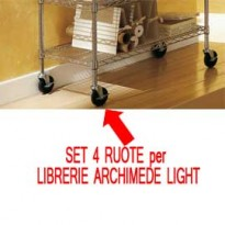 SET 4 RUOTE per LIBRERIE ARCHIMEDE LIGHT O0920031