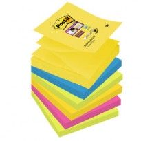 BLOCCO 90foglietti Post-it Super Sticky Z-Notes 76x76mm R330-6SS-RIO D/J 7100147840 - Conf da 6 pz.