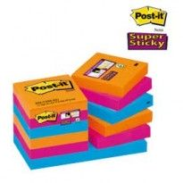 BLOCCO 90foglietti Post-it Super Sticky 47.6x47.6mm 622-12SS-EG BANGKOK 74200 - Conf da 12 pz.