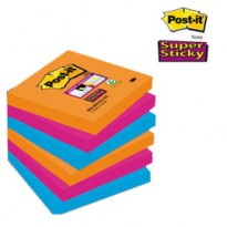 BLOCCO 90foglietti Post-it Super Sticky 76x76mm 654-6SS-EG BANGKOK 7010416432 - Conf da 6 pz.