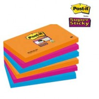 BLOCCO 90foglietti Post-it Super Sticky 76x127mm 655-6SS-EG BANGKOK 91572 - Conf da 6 pz.