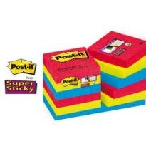 BLOCCO 90foglietti Post-it Super Sticky 47.6x76mm 622-12SS-JP BORA BORA 76594 - Conf da 12 pz.