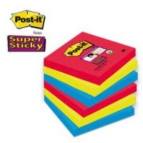 BLOCCO 90foglietti Post-it Super Sticky 76x76mm 654-6SS-JP BORA BORA 7010416433 - Conf da 6 pz.