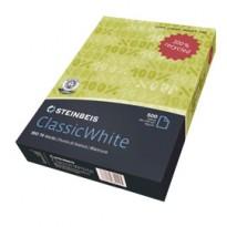 CARTA STEINBEIS CLASSIC WHITE A4 80gr 500fg 100 riciclata 6831 - Conf da 5 pz.
