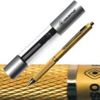 Penna sfera scatto multifunzione QUADRA fusto oro OSAMA OD 1024/1 Oro