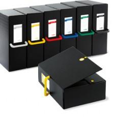 Scatola archivio Big Next 120 nero/giallo 25x35cm dorso 12cm 68101206