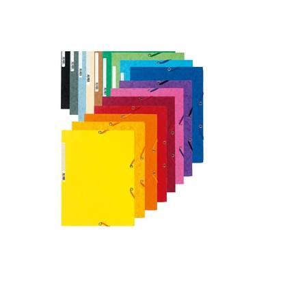 CARTELLA CON ELASTICO 24x32CM BLU CARTONCINO LUSTRE 425gr 55502E - Conf da 25 pz.