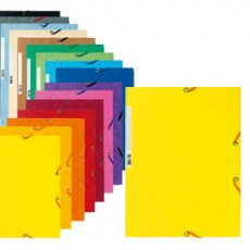 CARTELLA CON ELASTICO 24x32CM GIALLO LIMONE CARTONCINO LUSTRE 425gr 55529E - Conf da 25 pz.