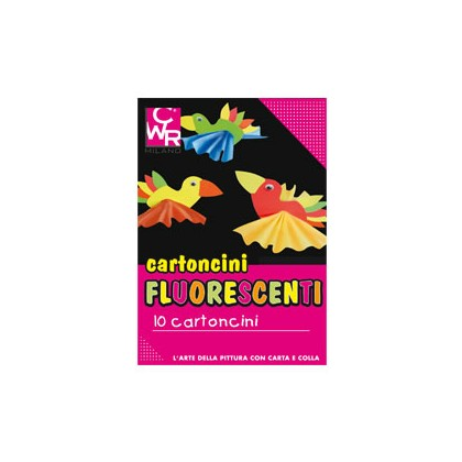 PACK 10 CARTONCINI FLUO 35x50cm 260g colori ass. CWR 334 334