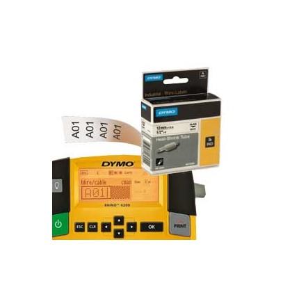 NASTRO NYLON FLESSIBILE 24mm x 3.5mt nero su bianco 1734524 RHINO 1734524