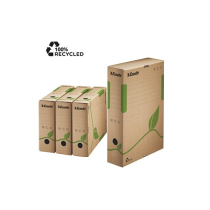 Scatola archivio ECOBOX dorso 100mm 327x233mm ESSELTE 623917 - Conf da 25 pz.