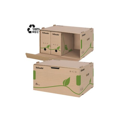 Scatola CONTAINER ECOBOX 340x439x259mm apertura laterale ESSELTE 623919 - Conf da 10 pz.