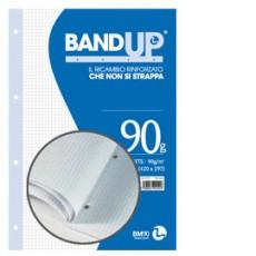 BLOCCO COLLATO FORATI RINFORZATI BANDUP A4 90gr 40fg 5mm BM 0106433 - Conf da 10 pz.
