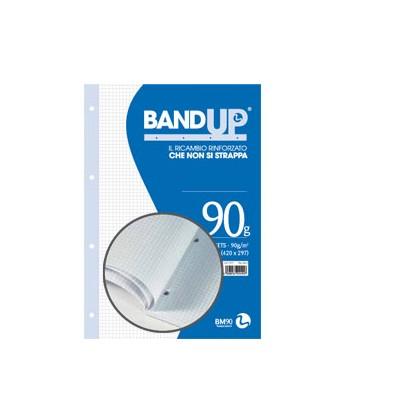 BLOCCO COLLATO FORATI RINFORZATI BANDUP A4 90gr 40fg 4mm BM 0106435 - Conf da 10 pz.