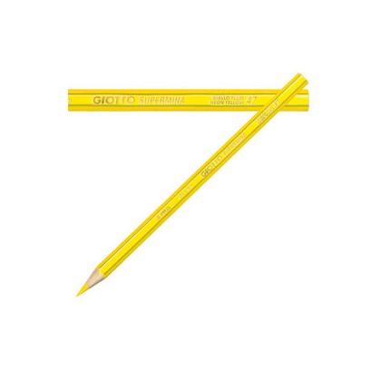 Pastello Giotto Supermina monocolore giallo fluo 51 239051 - Conf da 12 pz.