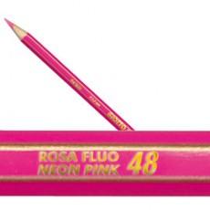 Pastello Giotto Supermina monocolore rosa fluo 53 239053 - Conf da 12 pz.