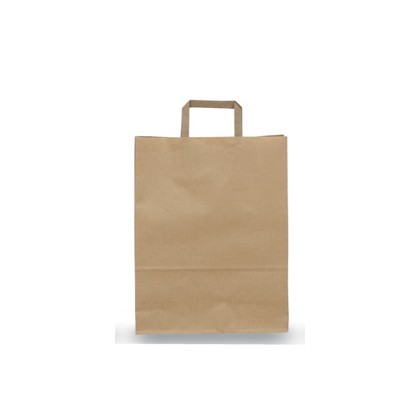SCATOLA 250 SHOPPERS 36X12X41CM AVANA NEUTRO PIATTINA 001659