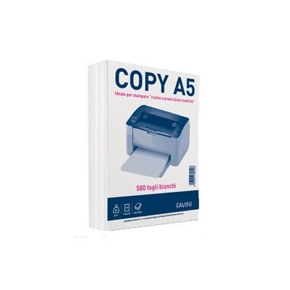 CARTA COPY A5 148x210mm 80GR 500FG BIANCA FAVINI A620505 - Conf da 12 pz.