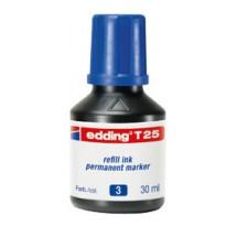 RICARICA INCHIOSTRO PERMANENTE 30ML T25 BLU EDDING E-T25 003
