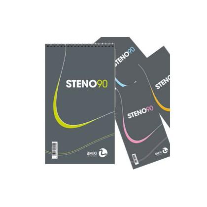 BLOCCO SPIRALATO STENO90 130x225mm 90gr 60fg BM 0100214 - Conf da 5 pz.