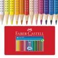 ASTUCCIO metallo 36 PASTELLI COLORATI ACQUERELLABILI Color Grip FABER CASTELL 112435