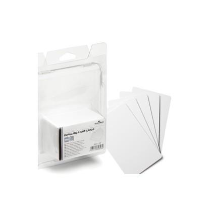 100 TESSERE BIANCHE 0,5mm x Duracard ID300 DURABLE 8914-02
