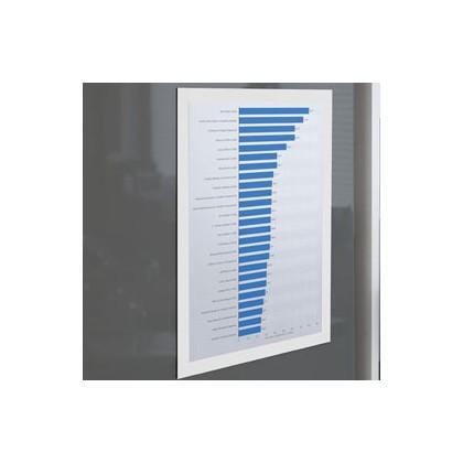 Cornice espositiva adesiva Duraframe A4 21x29,7cm bianco DURABLE 4872-02 - Conf da 2 pz.