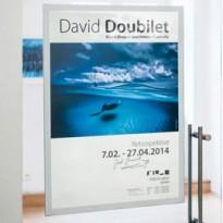 Cornice adesiva Duraframe Poster A2 42x59,4cm argento DURABLE 4995-23