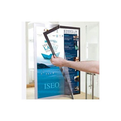 Cornice adesiva Duraframe Poster A1 59,4x84,1cm argento DURABLE 4997-23