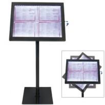 ESPOSITORE A LED 4xA4 PER ESTERNI Securit MCS-4A4-BL-SET