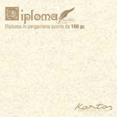 BLISTER 10 DIPLOMI PERGAMENA 210x297mm 160gr neutro avorio KARTOS OD14619400S10