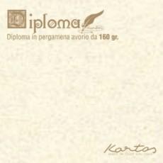 BLISTER 10 DIPLOMI PERGAMENA 297x420mm 160gr neutro avorio KARTOS OD14618200S10