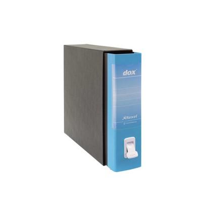 Registratore Dox 2 azzurro capri dorso 8cm f.to protocollo Esselte D26201