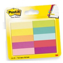 SEGNAPAGINA Post-it 670-10AB-EU 500FG in 10COLORI INDEX 12,7x44mm in CARTA 63152