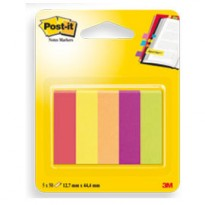 SEGNAPAGINA Post-it 670-5JA-EU 250FG in 5COLORI INDEX 12,7x44mm in CARTA 63135