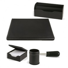 SET SCRIVANIA WILLIAM NERO SINTETICO 5 PEZZI NIJI 60451