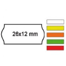 PACK 10 ROTOLI 1000 ETICH. 26x12mm ONDA ROSSO PERM. Printex 2612sfr10rs