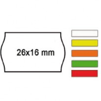 PACK 10 ROTOLI 1000 ETICH. 26x16mm ONDA VERDE PERM. Printex 2616sfp7ve